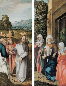 Schaeufelein-Altar - Außentafeln - Christus nimmt Abschied von seiner Mutter